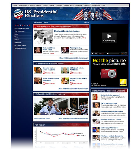 Homepage screengrab